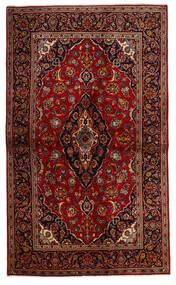 Keshan Rug 137X230 Authentic  Oriental Handknotted Dark Red/Dark Brown (Wool, Persia/Iran)