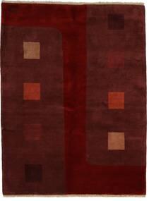 Gabbeh Indo Rug 174X229 Authentic  Modern Handknotted Dark Red/Dark Brown (Wool, India)