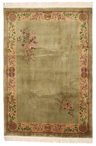 China 90 Line Rug 213X305 Authentic  Oriental Handknotted Light Green/Beige (Wool, China)