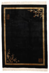 China 90 Line Rug 198X274 Authentic  Oriental Handknotted Black (Wool, China)