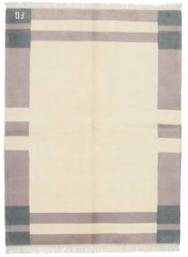 Gabbeh Indo Rug 172X228 Authentic Modern Handknotted Beige/Light Grey (Wool, India)