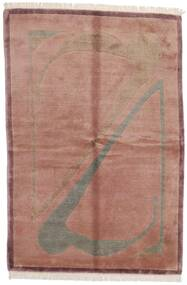 Himalaya Rug 165X245 Authentic  Modern Handknotted Light Pink/Dark Red (Wool, India)