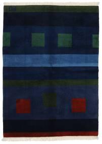 Gabbeh Indo Rug 144X197 Authentic Modern Handknotted Dark Blue (Wool, India)