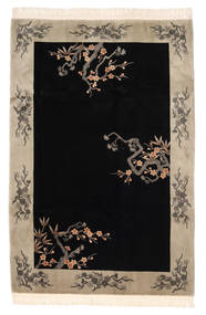 China 90 Line Rug 183X274 Authentic  Oriental Handknotted Black/Light Grey (Wool, China)