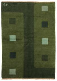 Gabbeh Indo Rug 139X199 Authentic  Modern Handknotted Dark Green (Wool, India)