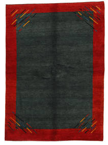 Gabbeh Indo Rug 171X239 Authentic  Modern Handknotted Dark Green/Rust Red (Wool, India)