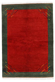 Gabbeh Indo Rug 170X238 Authentic  Modern Handknotted Rust Red/Dark Green (Wool, India)