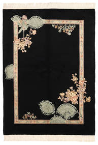 China 90 Line Rug 168X229 Authentic  Oriental Handknotted Black (Wool, China)