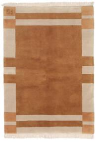 Gabbeh Indo Rug 141X197 Authentic  Modern Handknotted Brown/Dark Brown (Wool, India)