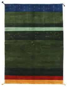 Gabbeh Indo Rug 166X229 Authentic  Modern Handknotted Dark Green (Wool, India)