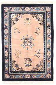 China Antiquefinish Rug 122X183 Authentic  Oriental Handknotted Dark Grey/Light Pink (Wool, China)