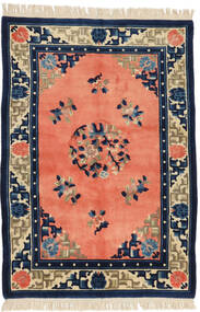 China Antiquefinish Rug 125X182 Authentic  Oriental Handknotted Orange/Dark Blue (Wool, China)