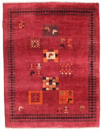 Gabbeh Loribaft Rug 88X116 Authentic  Modern Handknotted Crimson Red/Dark Red (Wool, India)