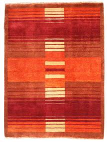 Gabbeh Loribaft Rug 90X121 Authentic  Modern Handknotted Orange/Rust Red (Wool, India)