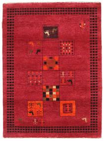 Gabbeh Loribaft Rug 90X126 Authentic  Modern Handknotted Crimson Red/Dark Red (Wool, India)