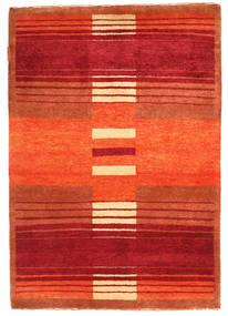 Gabbeh Loribaft Rug 90X128 Authentic  Modern Handknotted Orange/Crimson Red (Wool, India)
