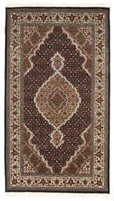 Tabriz Royal Rug 94X164 Authentic  Oriental Handknotted Dark Brown/Dark Red ( India)