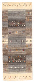 Loribaf Loom Rug 76X200 Authentic  Modern Handknotted Hallway Runner  Light Grey/Brown (Wool, India)