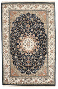 Nain Indo Rug 192X295 Authentic Oriental Handknotted Light Grey/Dark Grey ( India)