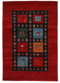 Gabbeh Loribaft Rug 152X218 Authentic  Modern Handknotted Dark Red/Black (Wool, India)