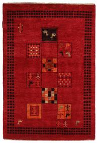 Gabbeh Loribaft Rug 88X129 Authentic  Modern Handknotted Crimson Red/Dark Red (Wool, India)
