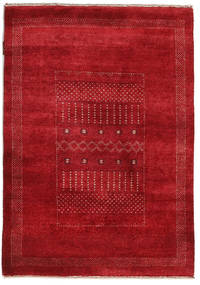Gabbeh Loribaft Rug 90X127 Authentic  Modern Handknotted Crimson Red/Dark Red (Wool, India)