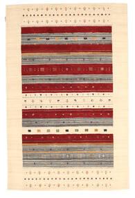 Loribaf Loom Rug 157X241 Authentic Modern Handknotted Dark Beige/Beige/Dark Red (Wool, India)
