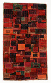 Gabbeh Loribaft Rug 75X131 Authentic  Modern Handknotted Dark Red/Rust Red (Wool, India)