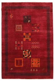 Gabbeh Loribaft Rug 145X215 Authentic  Modern Handknotted Crimson Red/Dark Red (Wool, India)