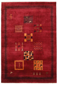 Gabbeh Loribaft Rug 155X225 Authentic  Modern Handknotted Dark Red/Black (Wool, India)