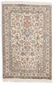 Kashmir Pure Silk Rug 64X95 Authentic  Oriental Handknotted Light Grey/Beige (Silk, India)