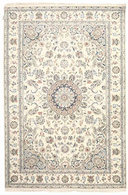 Nain Indo Rug 201X303 Authentic  Oriental Handknotted Beige/Light Grey ( India)