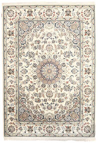 Nain Indo Rug 170X242 Authentic  Oriental Handknotted Beige/Light Grey ( India)