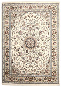 Nain Indo Rug 251X351 Authentic  Oriental Handknotted Light Grey/Beige Large ( India)