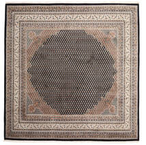 Mir Indo Rug 247X251 Authentic  Oriental Handknotted Square Light Grey/Black (Wool, India)