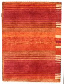 Gabbeh Loribaft Rug 90X123 Authentic  Modern Handknotted Rust Red/Orange (Wool, India)