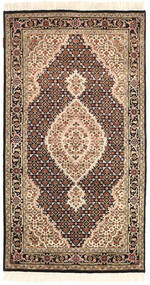 Tabriz Royal Rug 92X164 Authentic  Oriental Handknotted Brown/Beige ( India)