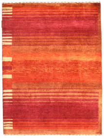 Gabbeh Loribaft Rug 91X121 Authentic  Modern Handknotted Rust Red/Crimson Red (Wool, India)