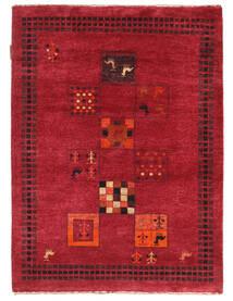 Gabbeh Loribaft Rug 91X125 Authentic  Modern Handknotted Crimson Red/Dark Red (Wool, India)