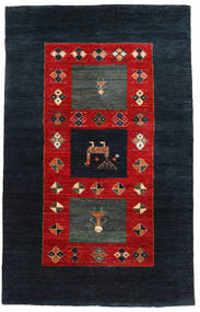 Gabbeh Loribaft Rug 95X153 Authentic  Modern Handknotted Dark Blue/Rust Red (Wool, India)