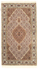 Tabriz Royal Rug 92X162 Authentic  Oriental Handknotted Beige/Brown ( India)