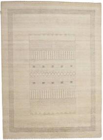 Gabbeh Loribaft Rug 196X266 Authentic Modern Handknotted Light Grey/Beige (Wool, India)