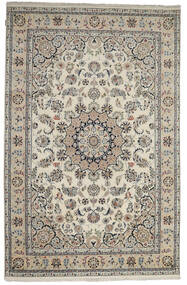 Nain Indo Rug 198X305 Authentic  Oriental Handknotted Light Grey/Dark Grey ( India)