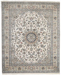 Nain Indo Rug 249X305 Authentic  Oriental Handknotted Light Grey/Dark Grey ( India)