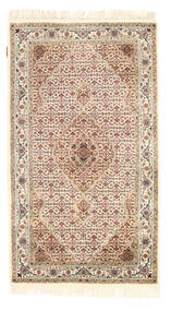 Tabriz Royal Rug 94X164 Authentic Oriental Handknotted Beige/Light Brown ( India)