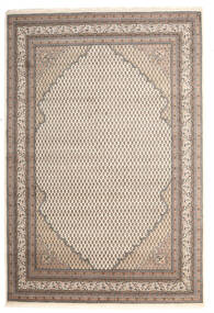 Mir Indo Rug 204X303 Authentic  Oriental Handknotted Light Grey/Beige (Wool, India)