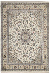 Nain Indo Rug 247X347 Authentic  Oriental Handknotted Light Grey/Dark Grey ( India)