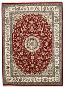 Nain Indo Rug 241X330 Authentic  Oriental Handknotted Dark Red/Light Grey ( India)