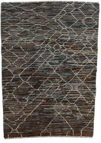 Moroccan Berber - Afghanistan Rug 124X170 Authentic  Modern Handknotted Dark Grey/Black (Wool, Afghanistan)