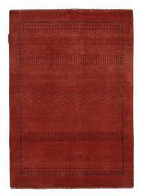 Gabbeh Loribaft Rug 89X127 Authentic  Modern Handknotted Dark Red/Black (Wool, India)